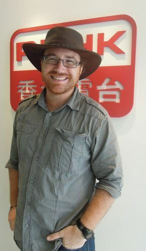Graham Hughes at Radio Hong Kong