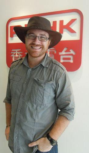 Graham Hughes at Radio Hong Kong