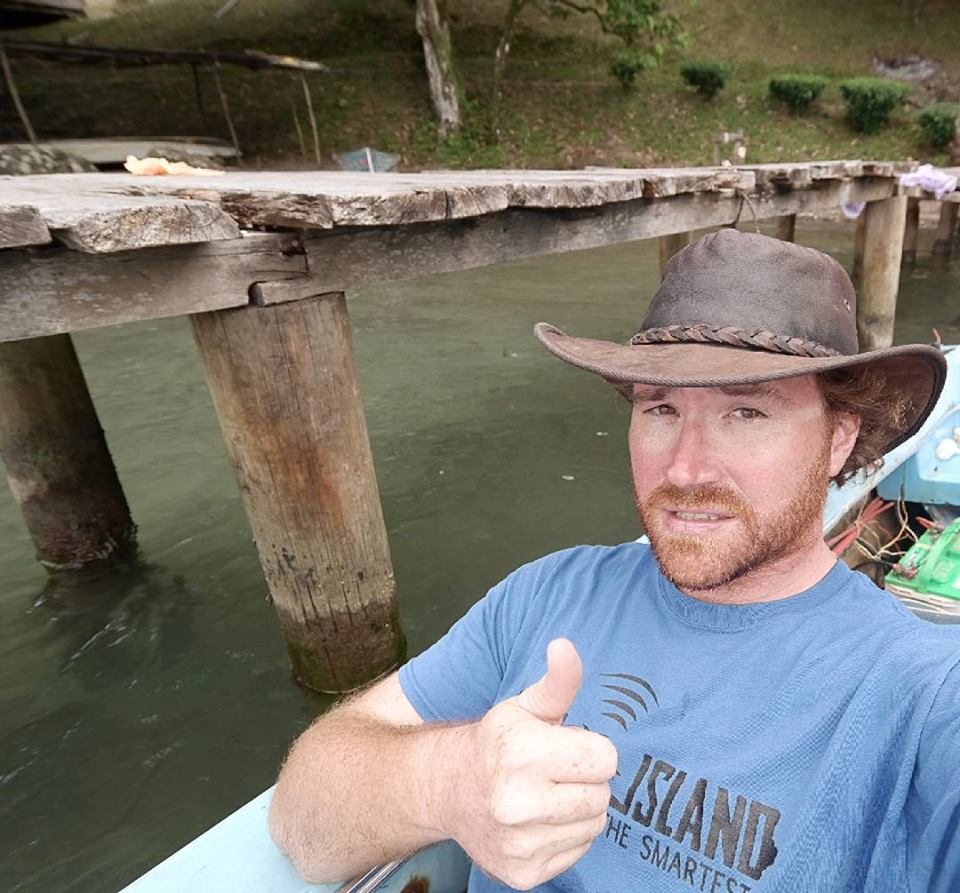 Graham Hughes at Shepherd Island