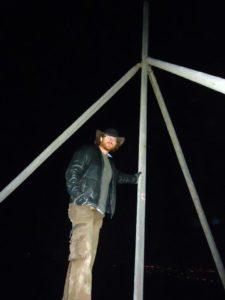 Graham Hughes at the Top of the Great Pyramid
