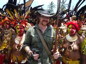 Graham Hughes in Papua New Guinea